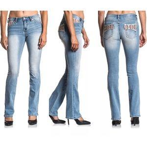 AFFLICTION Women's Denim Jeans JADE ARIES EMBER